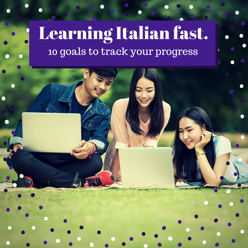 Teenagers learning Italian Fast