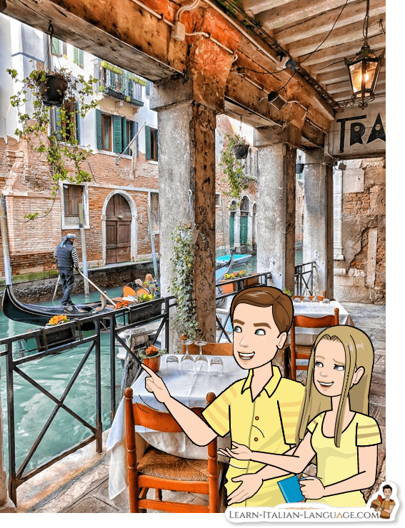Tourists in Venice cartoon