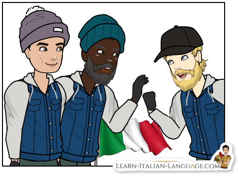 3_men_with_Italian_flag